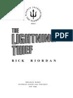 the lightning thief - percy jackson