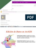 Edicion de Datos en ArcGIS
