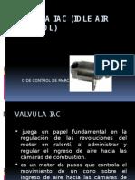 Valvula Iac (Idle Air Control)