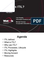 Intro to ITIL WatITis2012