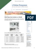 Daftar Harga Turbin Ventilator Ex
