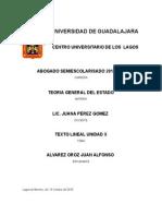Texto Lineal Unidad x teoria general del estado