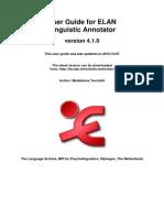 User Guide for ELAN Linguistic Annotator