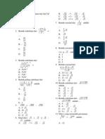 Latihan Soal Uas Math 9