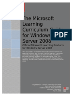 MS LEARNING CURRICULUM GUIDE FOR WINDOWS SERVER 2008.doc