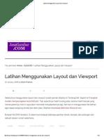 Latihan Menggunakan Layout Dan Viewport