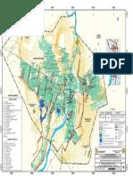 Mapa de Sistema de Drenaje Pluvial de Las Ciudades de Piura y Castilla de Peligros de La Ciudad de Piura