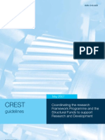 CREST guidelines - Coordinating the research Framework Programme and the Structural Funds to support Research and Development