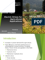 Electric Drive in agriculture field