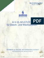 SIEMENS! Multizet Handbuch