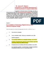dr  oslers technology competency and skills assessment 2