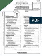 Technische Temperaturmessungen - Grundlagen Und Übersicht Über Besondere Temperaturmeßverfahren