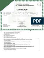 Certificado 2 esaf