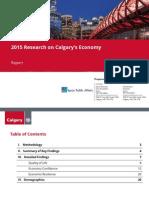 2015 Research on Calgary's Economy