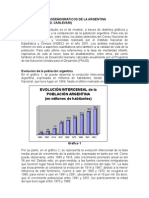 Indicadores Sociodemográficos de la Argentina