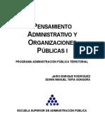 1 Pensamiento AdmiPensamiento Administrativonistrativo y Organizaciones Publicas i
