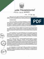 RVM N° 076-2015-MINEDU