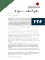 60 Grotowski Farewell Speech to the Pupils