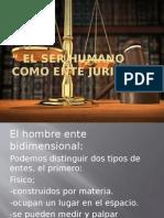 El Ser Humano Como Ente Juridico FINAL