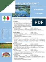 Dépliant Publicitaire Activités Mercredis PM Bloc 2 1e Cycle 2015 2016