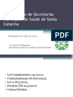 57-Encontro de Secretarias Municipais de Saude de Sc Celso Dellagiustina