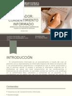 Presentación Medicion indicador Consentimiento Informado Higueras