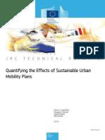 Παναγιώτης Χρηστίδης - Quantifying the Effects of Sustainable Urban Mobility Plans JRC 84116