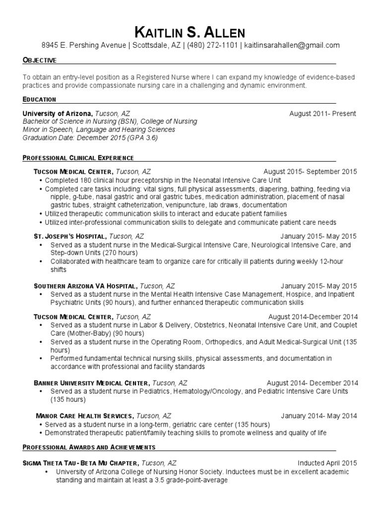 Updated Resume K Allen Nursing Hospital