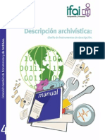 Manual Curso Descripción Archivística, Diseño de Instrumentos de Descripción
