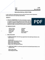 San Francisco Police Department Organizational Structure