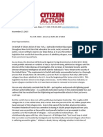 Citizen Action's Letter on Syrian Refugee Act to NY Members of Congress