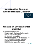 Substantive Tests on Environmental Liability