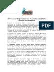Comunicado de prensa Concurso Mejores Crónicas Prensa Escuela 2015