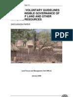Nacrt vodiča za odgovorno upravljanje zemljištem i prirodnim resursima