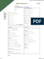 Mathwords Integral Table