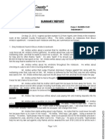 Camden County Prosecutors Summary on Bruce Aristeo's Notebooks
