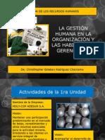 La Gestión Humana en La Organización y Las Habilidades Gerenciales