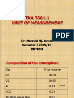 AIR QUALITY AND POLLUTION (TKA 3301)  LECTURE NOTES 3-Unit of Measurements