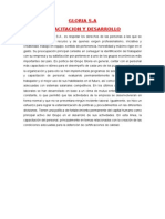 Capacitacion y Desarrollo- Gloria SA