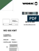manual contolador luces Wd616kmt