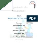 Produccion de Cumeno,