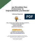 40ideas Para Promocionar Su Emprendimiento Escribiendo