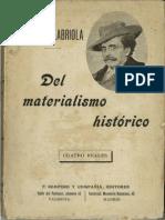 Antonio Labriola. Del materialismo histórico