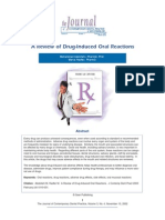 A Review of Drug-Induced Oral Reactions