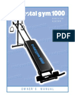 Total Gym 1000 Owners Manual