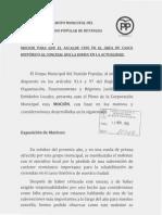 Moción PP Cese de Concelleiro Casco Histórico