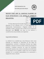 Moción PP Plan Apoio o Comercio Local