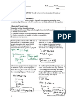 g8m4l8- word problems linear equations