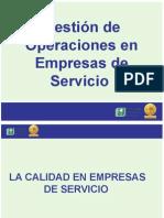 La Calidad en Las Empresas de Servicio