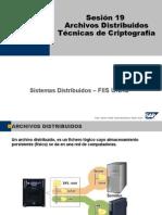 Sesion 19 - Archivos Distribuidos, Criptografia